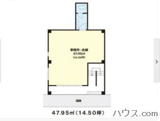 墨田区トリミングサロン向け物件の間取り図画像