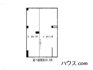 八王子トリミングサロン・ホテルの店舗の間取り図