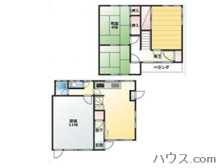 横浜店舗付き住宅物件の間取り図画像