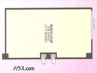 武蔵関店舗1階図面