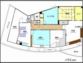 世田谷区羽根木動物向け居抜き賃貸物件間取り図
