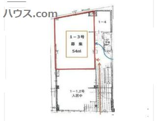 鎌倉のトリミングサロン向け賃貸店舗物件間取り図画像