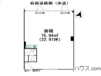 与野駅近動物病院向け賃貸店舗物間取り図画像