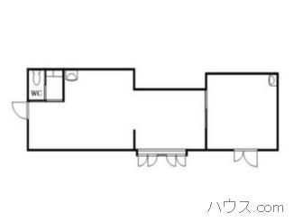 与野駅近くのトリミングサロン向け賃貸店舗物件間取り図画像