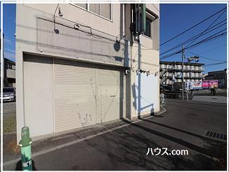 八王子散田町店舗外観シャッターを閉めたとき