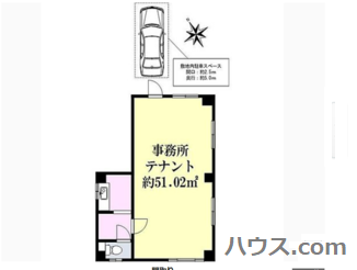 東青梅のトリミングサロン・ペットホテル向け賃貸店舗物件間取り図画像
