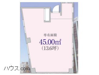 五反田トリミングサロン賃貸店舗物件間取り図画像
