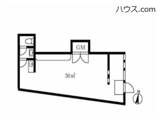 川崎市内のトリミングサロン向け賃貸店舗物件間取り図画像