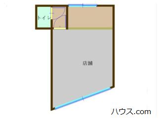 川崎市中原区のトリミングサロン向け賃貸店舗物件間取り図画像