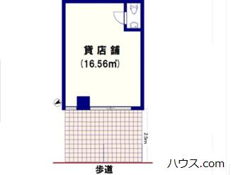 尾山台のトリミングサロン・ペットホテル向け賃貸店舗物件間取り図画像