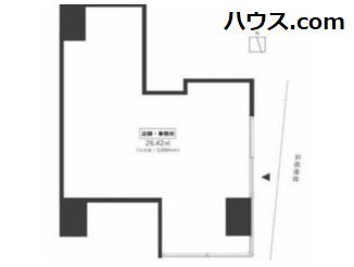恵比寿トリミングサロン賃貸店舗物件間取り図画像
