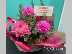 カルモナオープン記念のお花